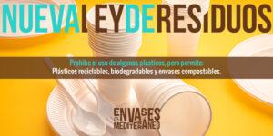 Nueva ley de residuos: envases y desechables permitidos para tu take away