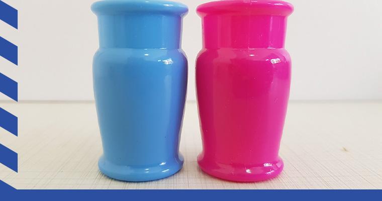 Los recipientes de plástico